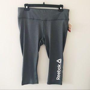 Reebok Plus Size Gray Skinny Capri Workout Pant